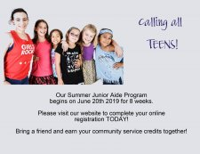 Summer Junior Aide Program